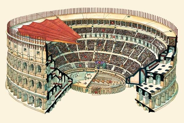 80 d.C. NOI TRA GLI SPETTATORI DEL COLOSSEO